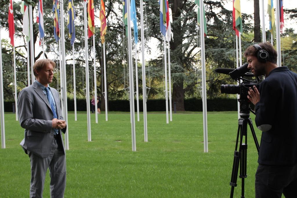 Alyn vor der UN