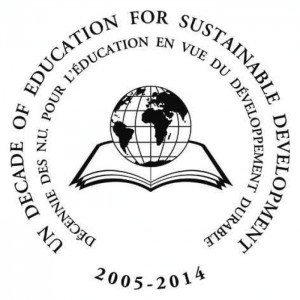 sustainable education decade ENGL Logo